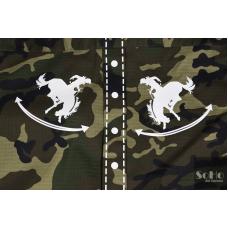 Camisa camuflaje militar customizada con originales apliques.
